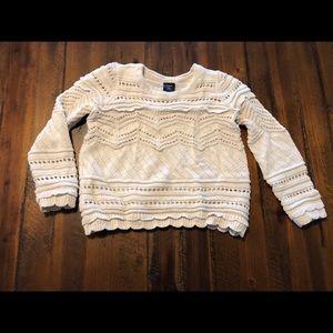 Baby Gap Cream Eyelet Sweater